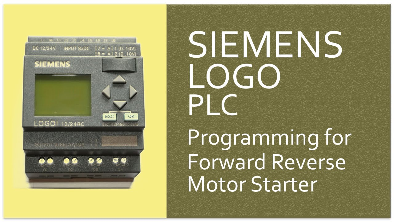 SIEMENS Logo PLC Programming for Forward Reverse Motor Starter-7
