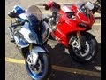 2013 BMW HP4 vs 2013 Ducati 1199 Panigale R