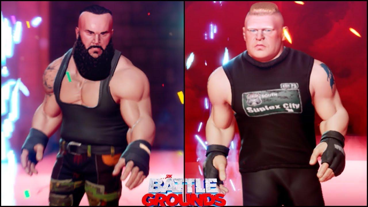 WWE 2K BATTLEGROUNDS - Unlocking BRAUN STROWMAN & Brock Lesnar NEW ATTIRE - Campaign Mode