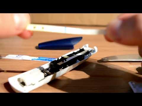 Desmontando test Clearblue digital/ Abriendo el Clearblue