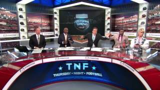 TNF Gameday Crew Reacts To Aaron Rodgers Hail Mary!   Packers vs. Lions   NFL