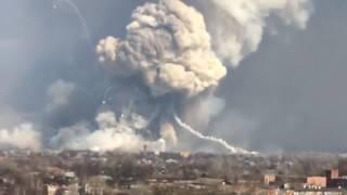 Балаклея, Харьков, момент детонации Точек У и Градов, дальность 3км!