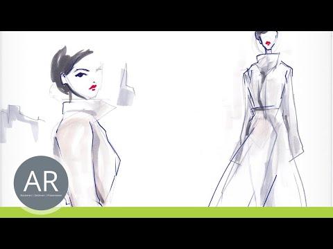 Zeichnen lernen, Modeskizze – Akademie Ruhr, Mappenkurs Modedesign Studium