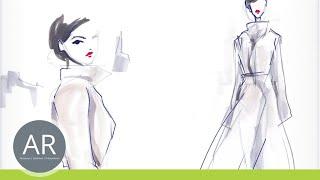 Zeichnen lernen, Modeskizze - Akademie Ruhr, Mappenkurs Modedesign Studium