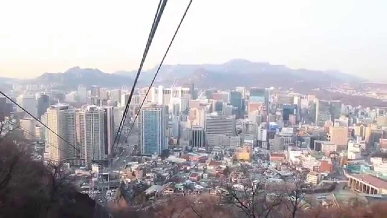 Namsan cable car - Namsan Cable Car Seoul Korea Youtube
