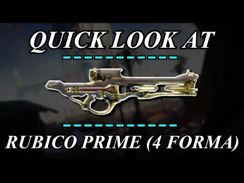 Warframe - Quick Look At: Rubico Prime (4 Forma) thumbnail