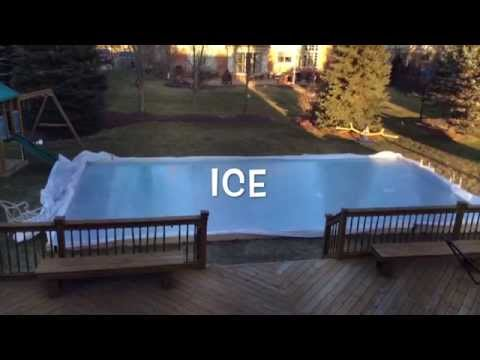 Backyard Ice Rink (Time Lapse)