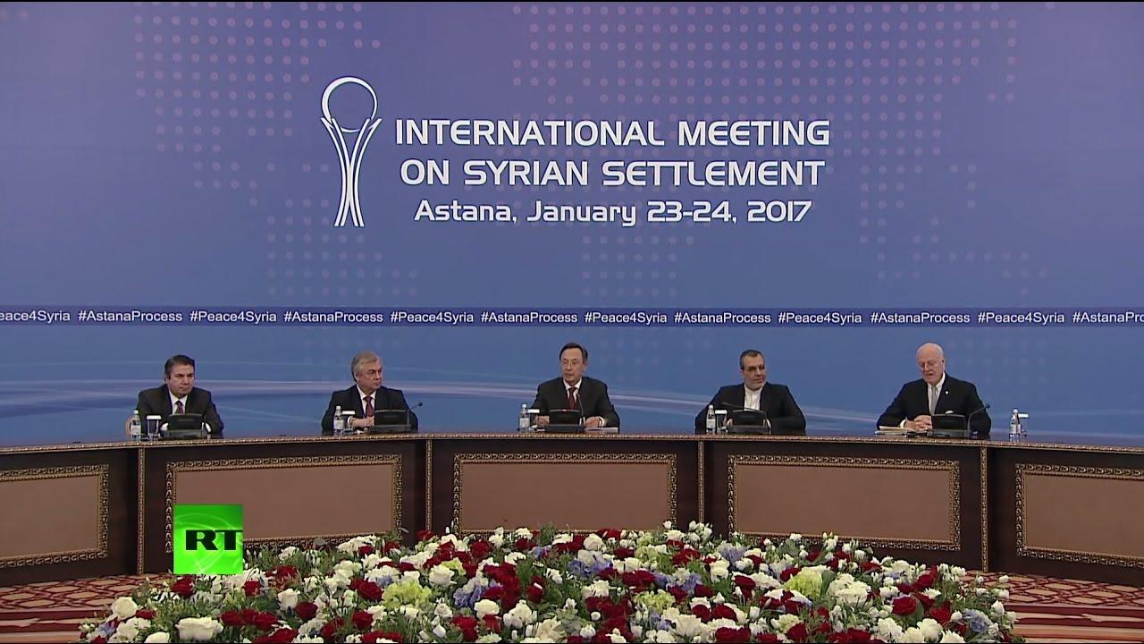 Подписание соглашений по Сирии, достигнутых в ходе переговоров в Астане