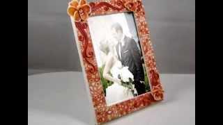 Свадебный набор Орхидеи: рамка для фото и фужеры в оригинальном футляре.