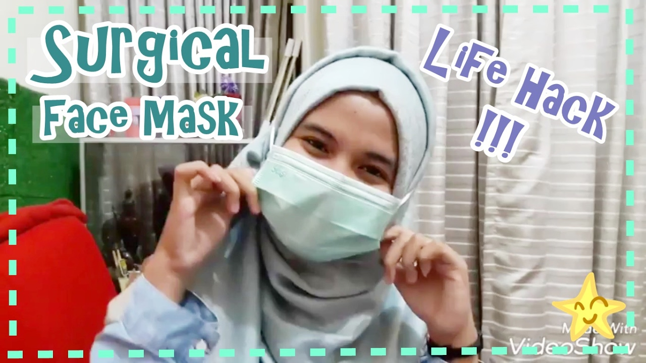 Life Hack Surgical Mask Face Masker Youtube Hijab