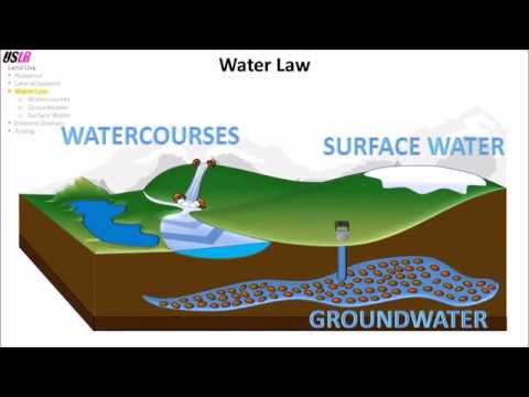 Water Law (Watercourses, Groundwater, Surface Water)