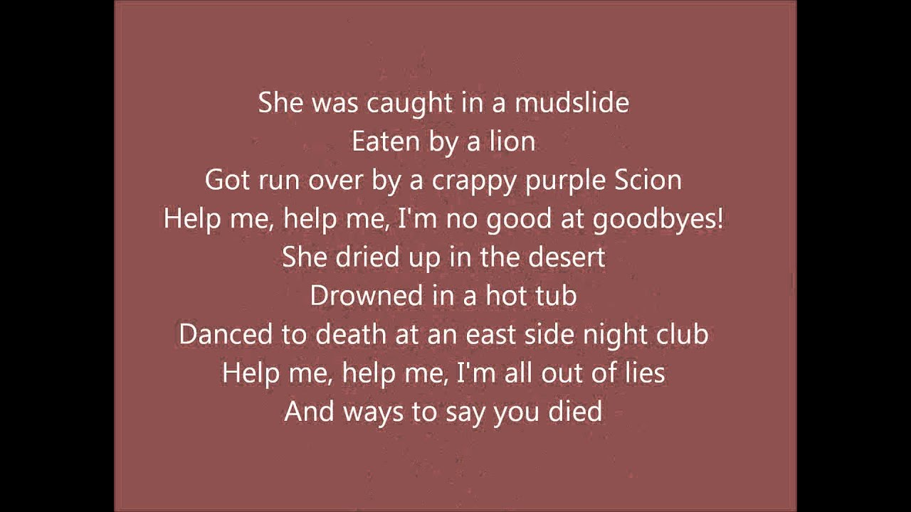 Train- 50 Ways to Say Goodbye (with lyrics) - YouTube