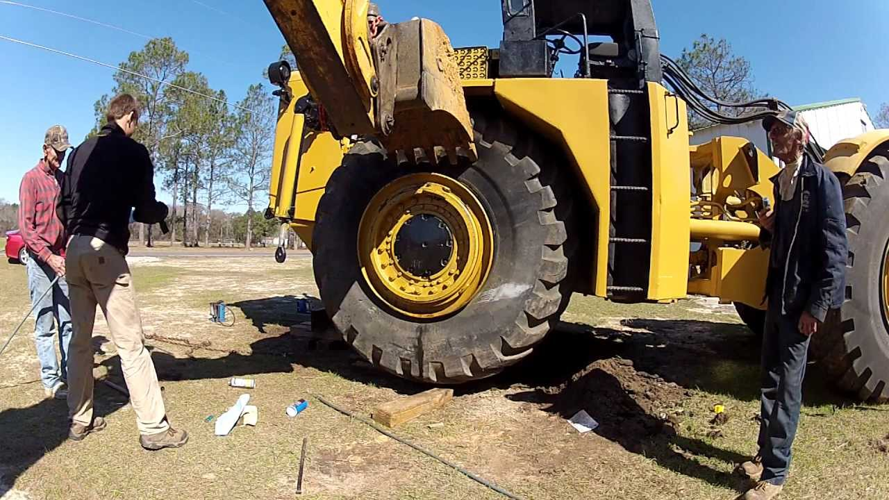Large Tractor Wheels : Mounting big tractor tires with ether money shot