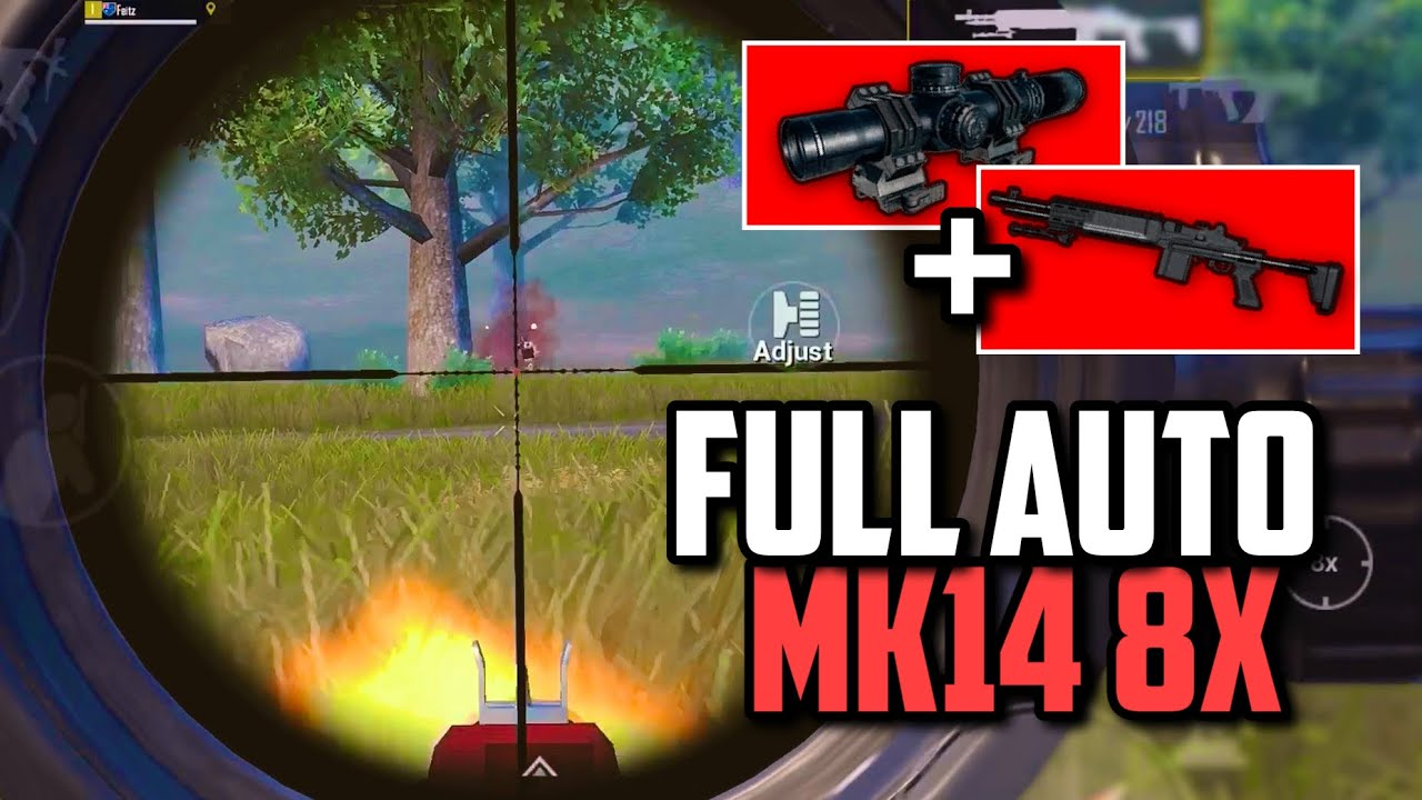 NO RECOIL MK14 8x Full Auto while Standing!! | PUBG Mobile