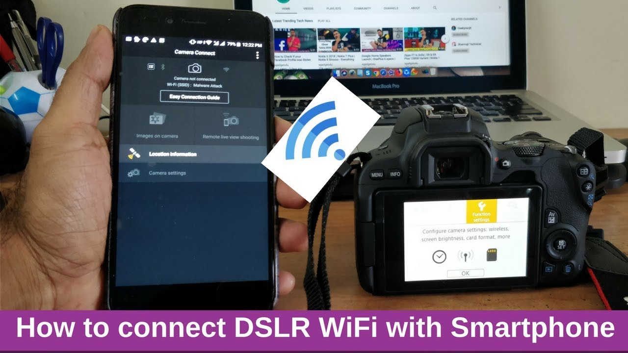 how to connect camera wifi to smartphone control dslr. Black Bedroom Furniture Sets. Home Design Ideas