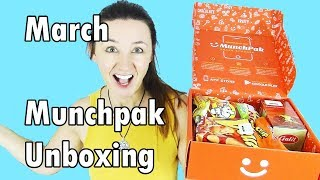 Munchpak Unboxing Taste Test March