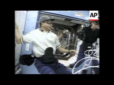 USA: NASA ANTLANTIS CREW ENTER DESTINY LAB