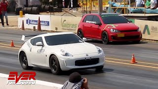 Drag Races: 370Z  Mustang  Golf  M140i  135i  M240i  Civic y más  13 seg. Copa Carnaval 2019