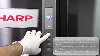 SHARP SJ FP85V User operation video