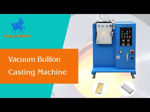 How to cast bullion: Vacuum gold ingot casting machine for making quality silver and gold bars