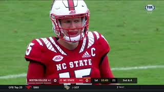 2018.10.06 Boston College Eagles at #23 NC State Wolfpack Football