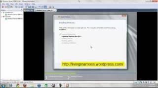 Installing Windows Server 2008 64 bit on VMWare Workstation