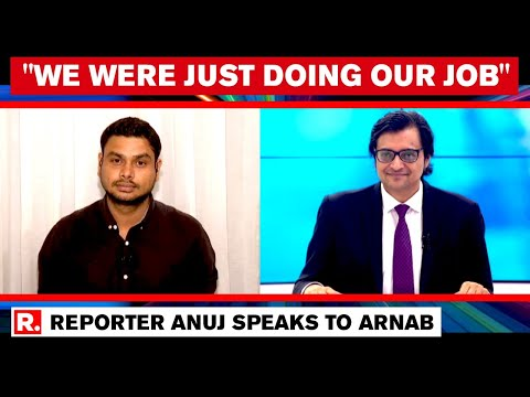 Republic TV Reporter Anuj Welcomed By Arnab Goswami And Team After Getting Bail