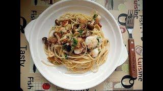 Spaghetti Aglio Olio with Shrimp 炒意大利面