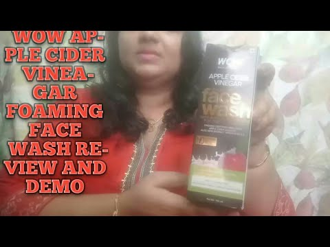 WOW APPLE CIDER VINEAGAR FOAMING FACE WASH REVIEW & DEMO