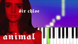 Sir Chloe - Animal (Piano tutorial)