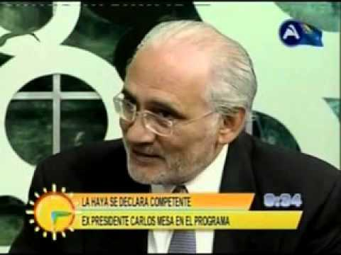 Carlos Mesa responde a canciller chileno sobre el tema marítimo