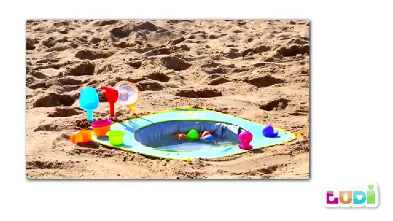 Piscine de plage ludi installation et pliage youtube for Plage et piscine