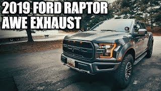 2019 ford raptor awe exhaust before after
