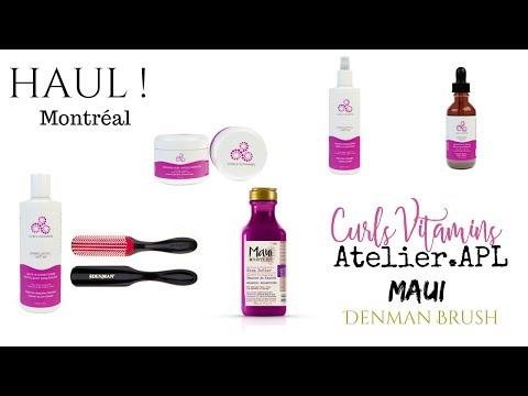 Haul capillaire Montréal ! (Maui, Atelier.APL, Denman, CurlsVitamins + Code promo)