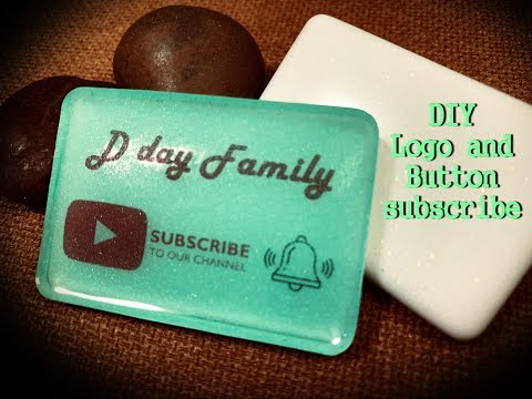 DIY. Epoxy resin ideas, how to make it easily for Logo and Button subscribe  EP. A111