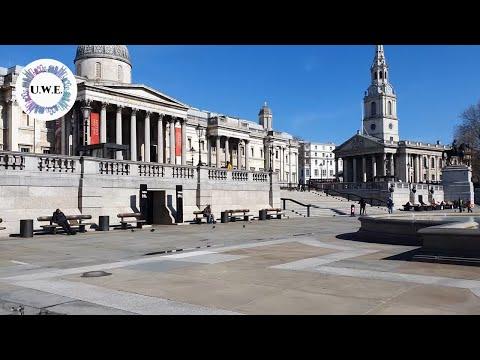 Walking In Empty Central London 2020 - Trafalgar Square To Oxford Street (before Lockdown)