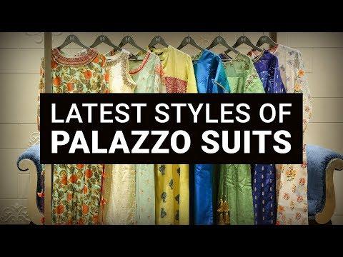 Latest Palazzo Suit Designs 2018 | Style Palazzo Pants - YouTube