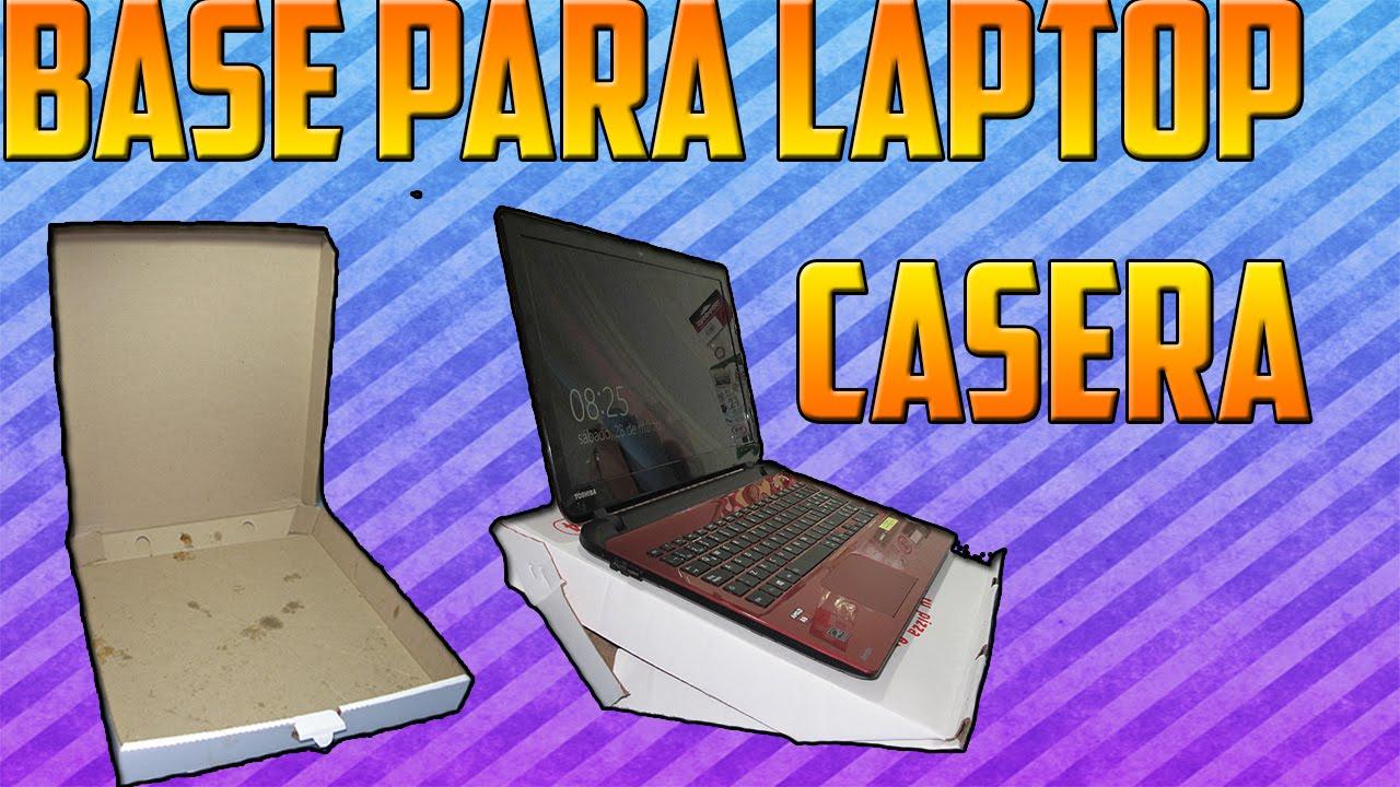 Como hacer una base para laptop casera con caja de pizza - Notebook con porta parallela ...