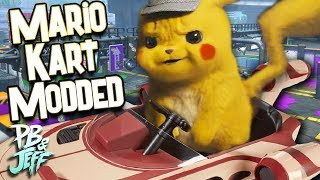 Mario Kart 8 MODDED! | Detective Pikachu Does a Star War