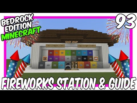 All In One Firework Station Tutorial & Guide Bedrock Edition