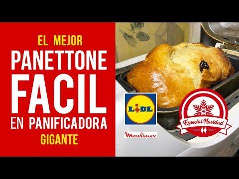Panettone fácil hecho en panificadora Moulinex y Lidl