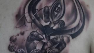 Realistic lord shiva trishul tattoo by best tattoo artist- eric jason d'souza   iron buzz tattoos