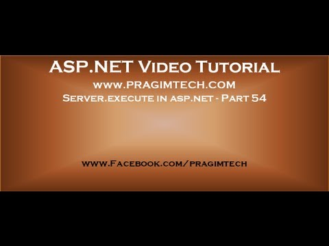 Server execute in asp.net   Part 54