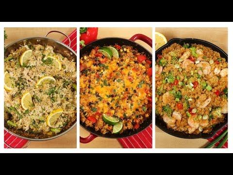 3-healthy-one-skillet-quinoa-recipes-|-dinner-made-easy