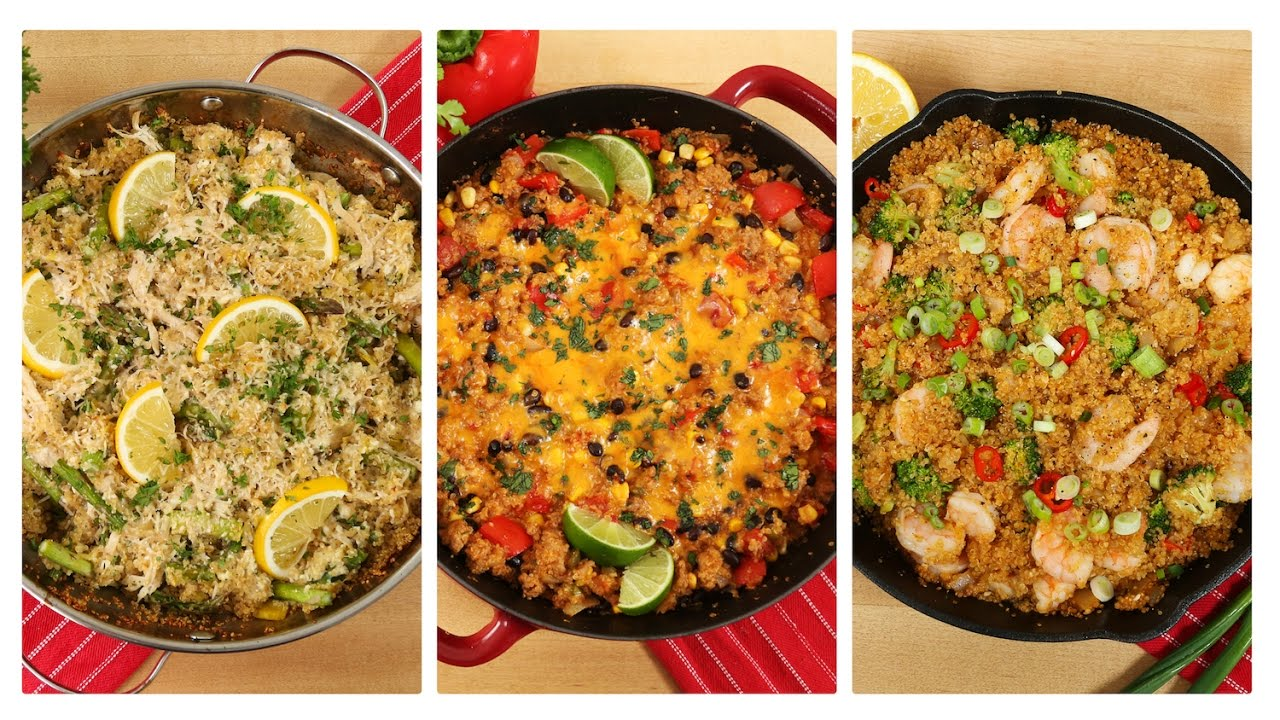 3 healthy one skillet quinoa recipes dinner made easy youtube 3 healthy one skillet quinoa recipes dinner made easy forumfinder Image collections