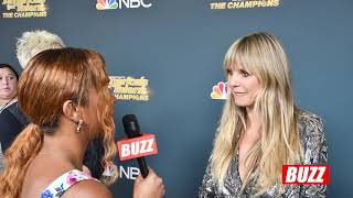 Heidi Klum Talks her favorite performances and Raves About Marcelito Pomoy | AGT CHAMPIONS