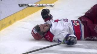 Травма Александра Радулова / Radulov receives upper-body injury