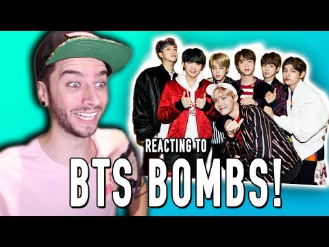 REACTING TO BTS BOMBS!!