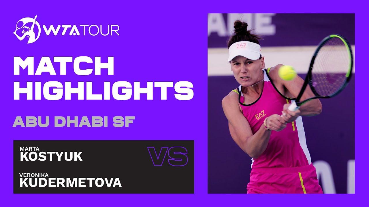 Veronika Kudermetova vs. Marta Kostyuk | 2021 Abu Dhabi Semifinal | WTA Highlights