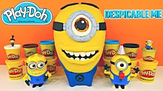 giant minion surprise egg new play doh despicable me stewart huge toy egg